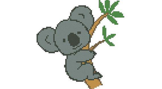 Cross Stitch Pattern Pdf Cute Koala Instant By