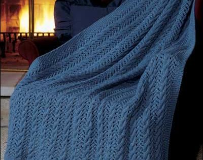 Eyelet Knitting Patterns Free : Knitting - Afghans & Throws - Cables - Eyelet Lace Afghan - #FK00319 free...