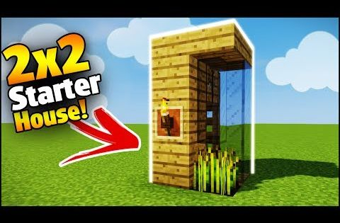 minecraft 2x2 starter house tutorial how to build a house in minecraft smallest