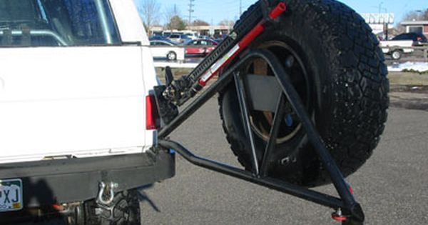 K5 Rear Bumper & Tire Carrier with HiLift Jack Mount ...