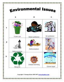 ESL, English vocabulary, printable worksheets, Environment ...