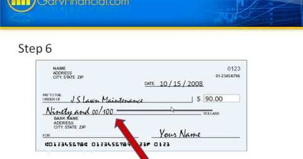 How To Write A Check Living Skills Money Skills Personal Financial Statement