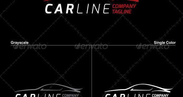 Car Line Logo – great for Mechanic, Car Stand / Dealer, Car Service Company