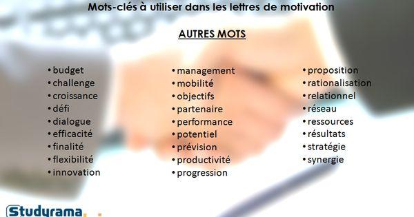 mots-cl u00e9s  u00e0 utiliser dans les lettres de motivation   autres mots