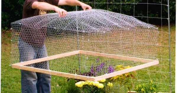 Protective Chicken Wire Raised Bed Cover!!