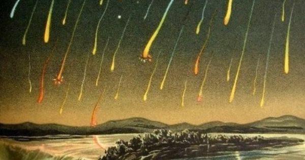 Leonid Meteor Shower over Niagara Falls, 1833 space