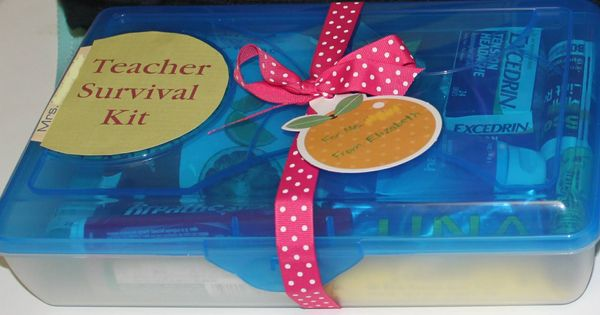 Teacher Survival Kit for a new teacher (good for mentor teachers to