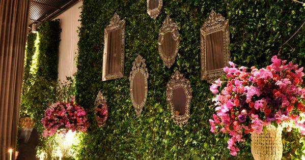 Living Room | Mirror Collage | Antique Mirrors | Vertical Garden |