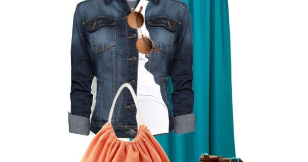 Maxi Skirt outfit! Very cute!!! Jean jacket style