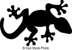 Me Encanta Esta Salamandra Para Pintar Una Camiseta Arte De Silueta Plantillas De Animales Siluetas Animales