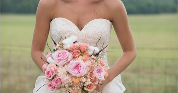 Modern Country Chic Wedding Dress : New country chic wedding dress pale pink long ruffles lace summer