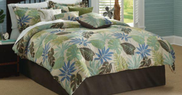 Mandalay Botanical Fern Tropical Comforter Set Bedding Pinterest Mandalay Comforter And