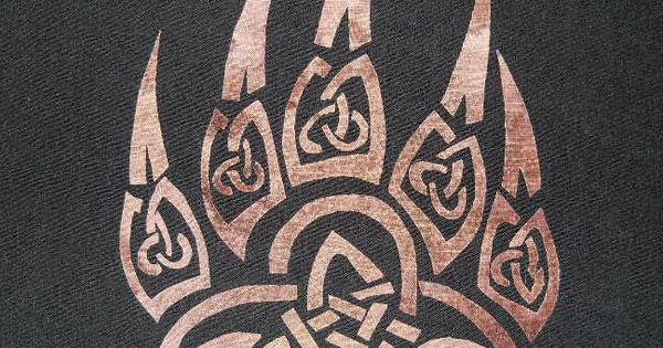 Celtic Knot Wolf Paw Print Quilting applique and 50 ...