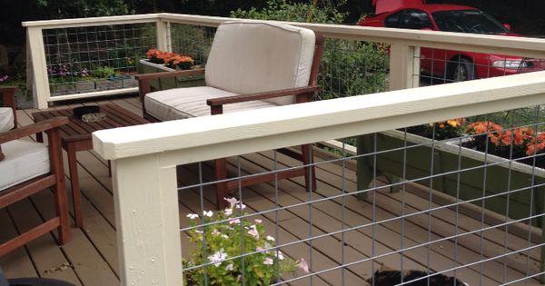 Beautiful Deck Railing Using Goat Panels My Garden Gate