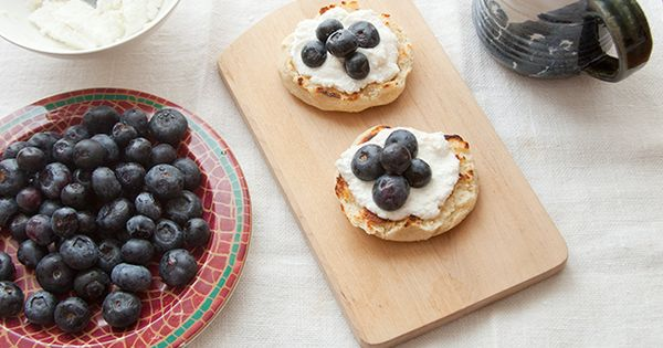 English muffins, Ricotta and Blueberries on Pinterest
