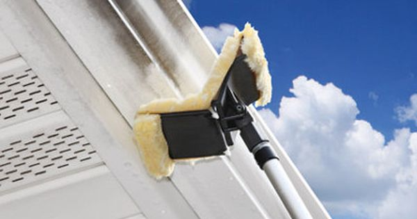 Clean Marks Off Your Gutter Safely From The Ground Leave The Ladder And Pressure Washer In The Garage Simply At Gutter Cleaner Cleaning Hacks Clean Dishwasher