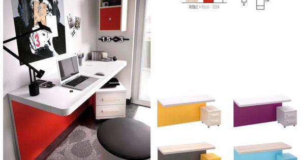 Mesa de estudio de dise o muy sencillo y vanguardista - Mesa estudio plegable ...