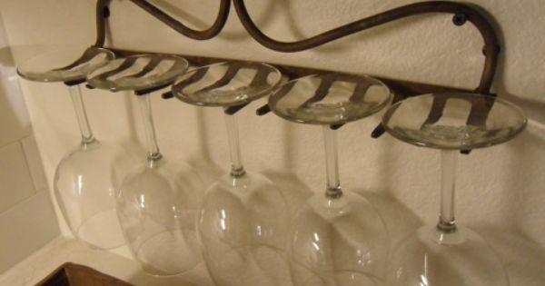 Country Decor wineglasses