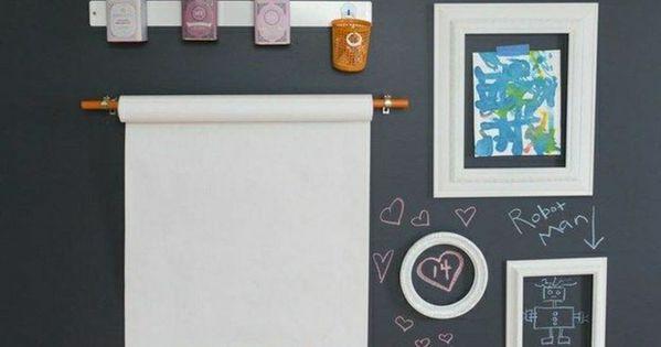 kinderzimmer mit schwarzer wand wird als schwarze tafel. Black Bedroom Furniture Sets. Home Design Ideas
