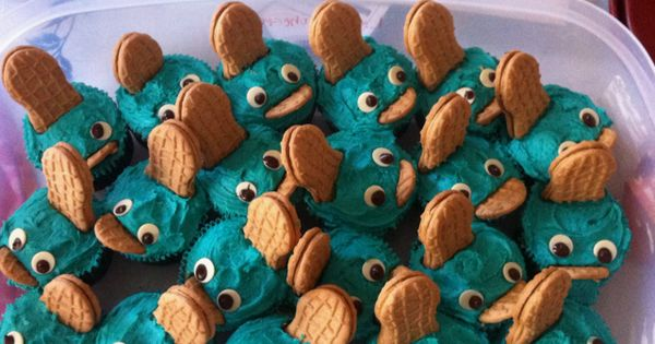 Perry the Platypus cupcakes by lesa