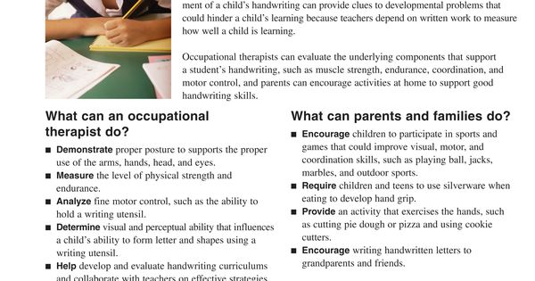 this handwriting worksheet shows what occupational therapists and parents families can do to. Black Bedroom Furniture Sets. Home Design Ideas