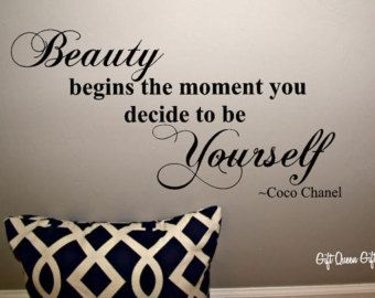 Coco Chanel Quote Wall Decal Beauty