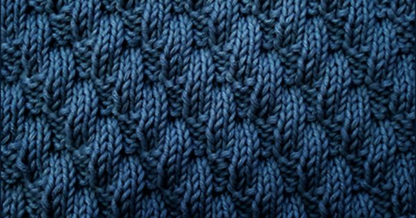 Knit And Purl Stitches Patterns : Left Diagonal pattern Knit and Purl stitch Combinations Knitting Pinter...