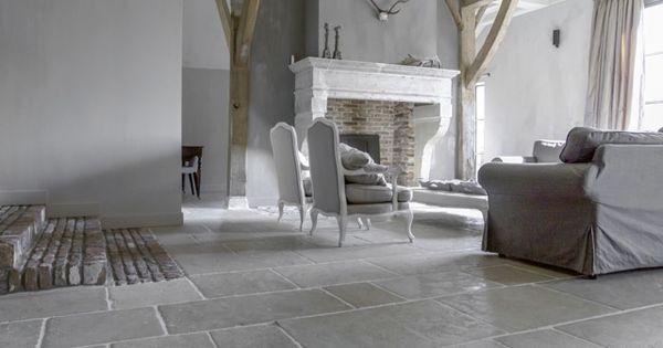 Bourgondische dallen pierre canyon vloer met zachte aardetinten bourgondische - Grijze verf leisteen ...