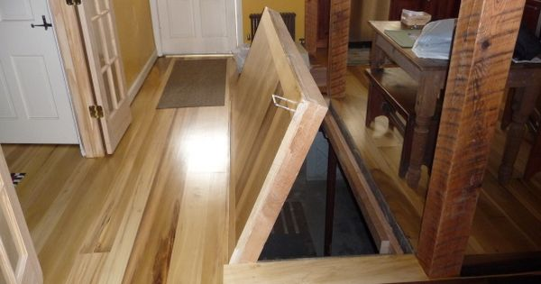 Trapdoor To Basement Under The Attic Stairs Home