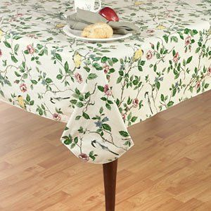 Newbridge Serene Morning Flannel Backed Indoor Outdoor Vinyl Tablecloth 70 Inch Round Vinyl Tablecloth Table Cloth Elrene Home Fashions