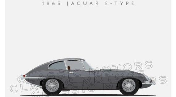 Jaguar E-Type Numbered limited Edition Watercolour Print
