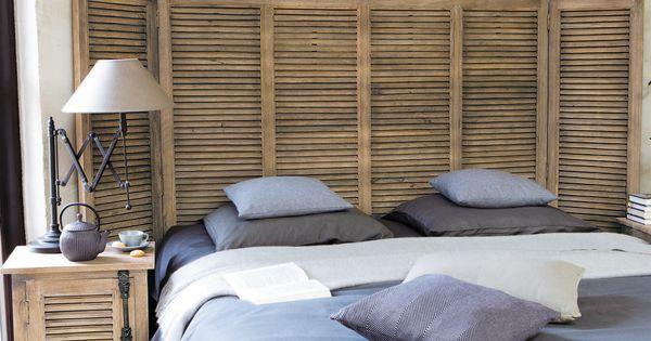 mobilier maison tete de lit persienne bois 2 chambre. Black Bedroom Furniture Sets. Home Design Ideas