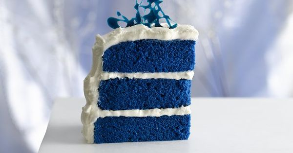 Blue Velvet Cake~This one comes from the Food Network.Duff from Ace of