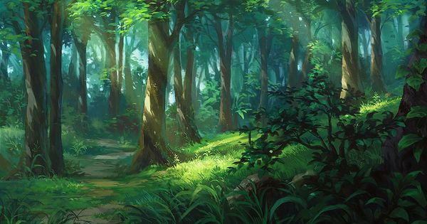 - Anime forest background ...