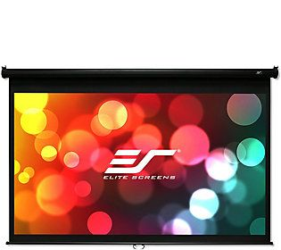 Elite Screens 100 Manual B Series Projection S Creen In 2020 Pull Down Projector Screen Projection Screen Projector Screen