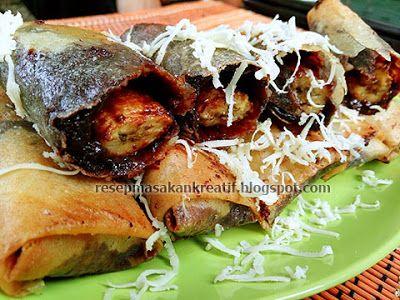 Resep Piscok Meler Lumer Goreng Kulit Lumpia Resep Masakan Indonesia Resep Makanan Dan Minuman