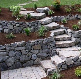 Pin By Andrea Duffield On Paths Walkways Backyard Landscaping Backyard Garden Stairs