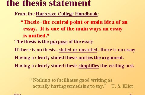thesis in reading