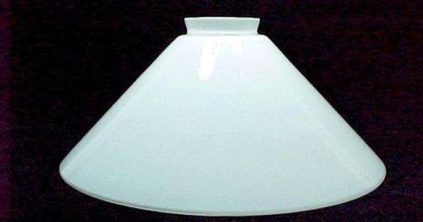 White Glass Hanging Pendant Light Shade Lamp Cone 2 1 4 X 5 X 9 3 4 Cased Ebay Pendant Light Shades Hanging Pendant Lights White Glass