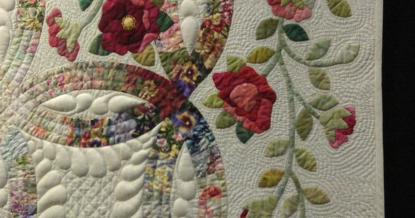 Wedding ring quilt close up, QuiltWest 2014 - Perth (Australia), photo by