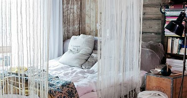 i love this. canopy bed curtains