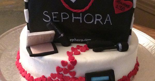 Sephora Makeup Cake Cakes Pinterest Makeup Cakes