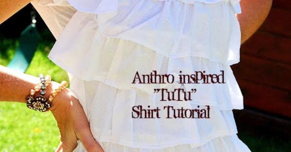 $4 Tee + $1 Dollar Store Towel = Fabulous Anthro-inspired Shirt!! tutorial