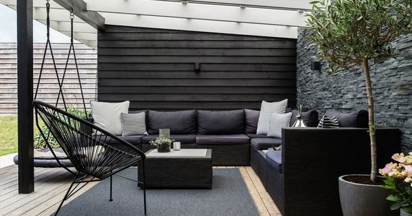 Lovely lounge area on the terrace with comfy and modern garden furniture  and green plants    Terraces   Pinterest   Gardens  Terrace and Furniture. Lovely lounge area on the terrace with comfy and modern garden