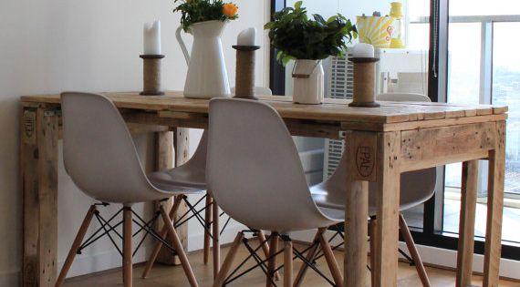 Mesa de palet mesas de comedor industriales comedores for Mesas industriales