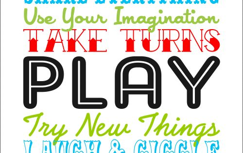 playroom printable - make a poster for playroom. LOVE IT! now maybe