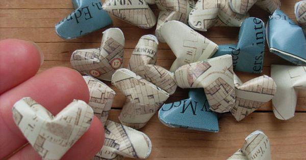 DIY Inspiration - origami hearts.