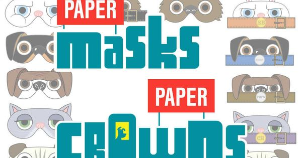 the secret life of pets paper masks and paper by