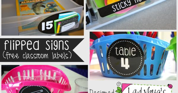 Free Classroom Label printables to use throughout the classroom.