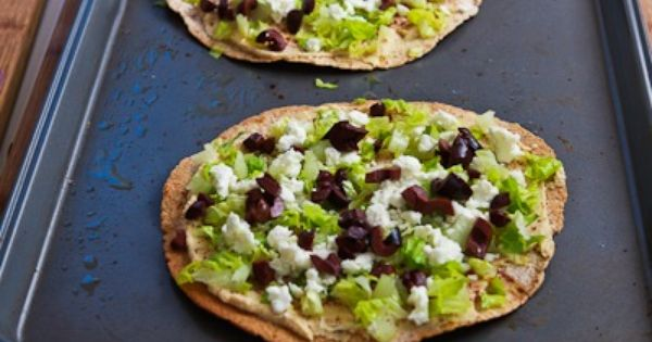 Mediterranean Tostadas with Hummus, Feta, and Kalamata Olives | food ...